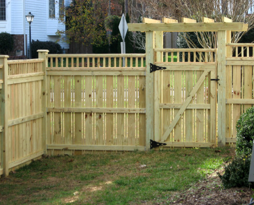 Residential Custom Wood Fencing