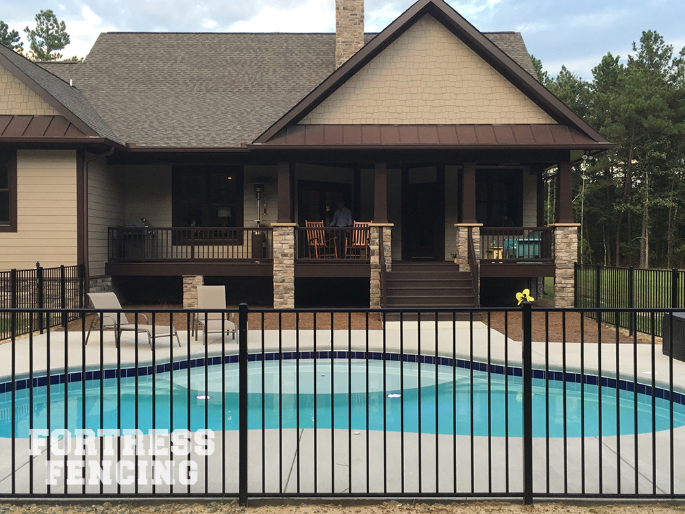 Residential Ornamental Aluminum Fencing Fortress Fencing