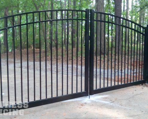 Aluminum Sunrise Arch Drive Gate