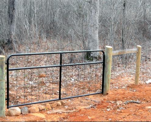 Black Powder Coated Cattle Gate