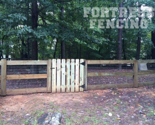 Estate Fence with Picket Gate
