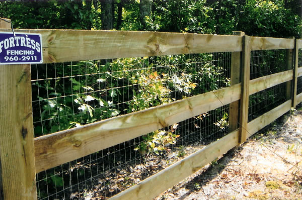 Residential wire rail fencing fortress