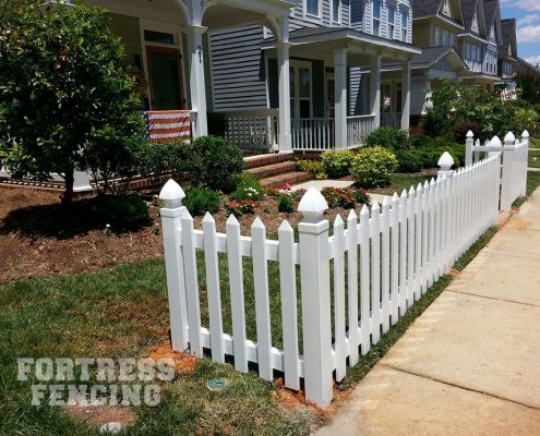 FV8- PVC vinyl picket with French Gothic posts and pickets