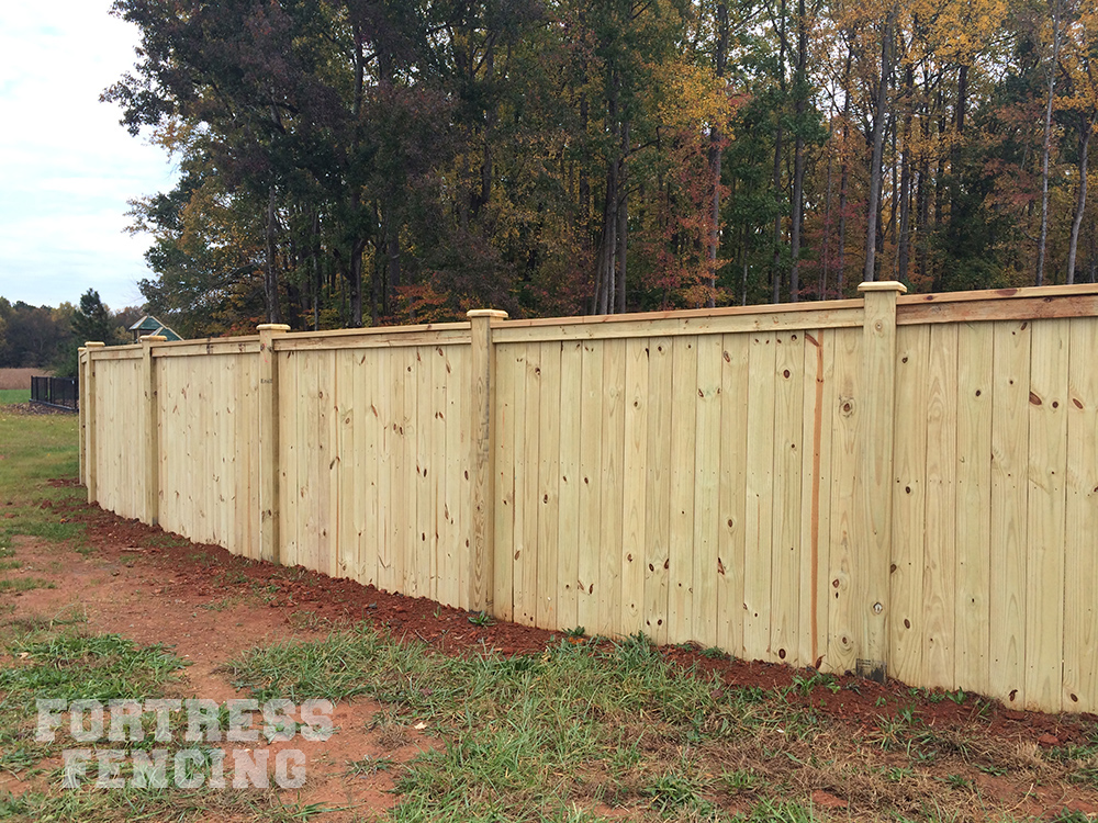Commercial Wood Fencing Fortress Fencing