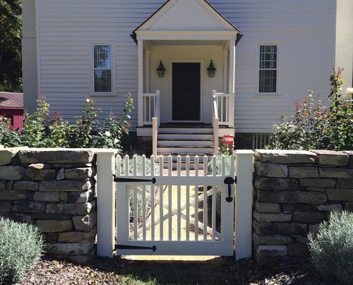 Painted Picket Gate