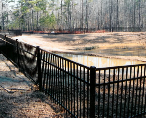 Retention Pond Fence