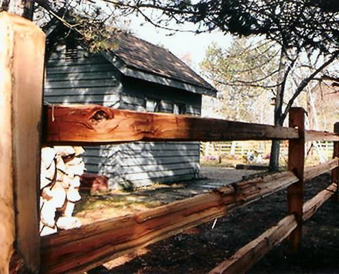 Rustic Cedar Split Rail