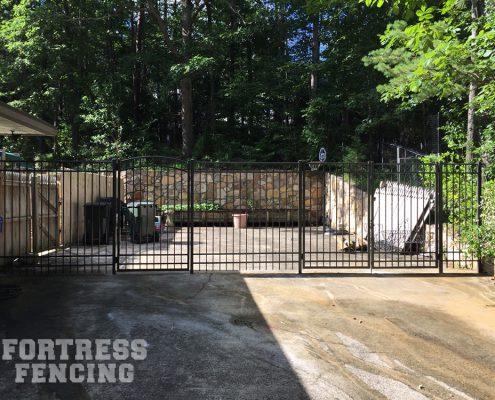 custom - 4-rail bronze aluminum-arch and double gate-6'tall