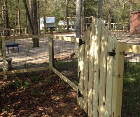 custom gate with Aldersgate commercial wire
