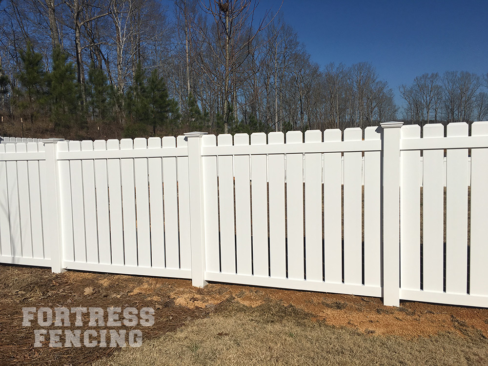 residential pvc vinyl fencing fortress fencing. Black Bedroom Furniture Sets. Home Design Ideas