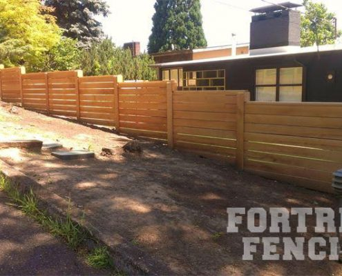 custom- stepped horizontal fencing