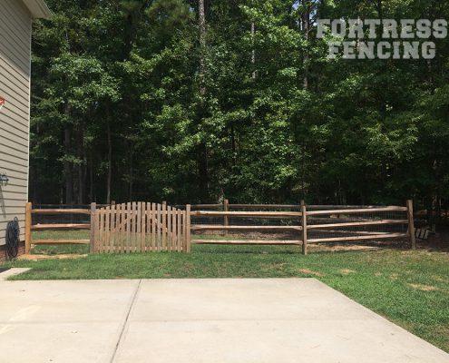 diamond split rail and double gate