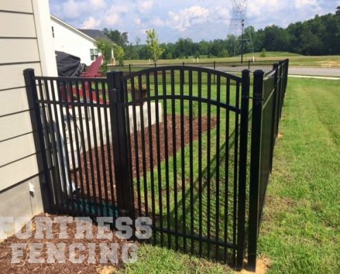 double picket arch gate