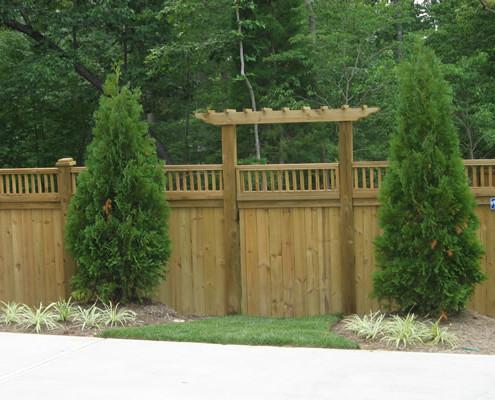 Custom Wood With Arbor