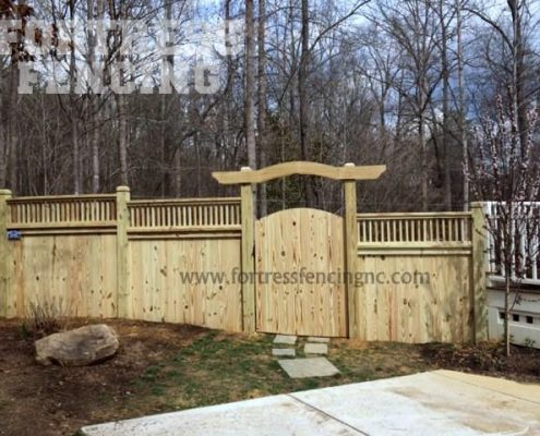deck rail topper- 5+1-notched posts-arbor-exterior