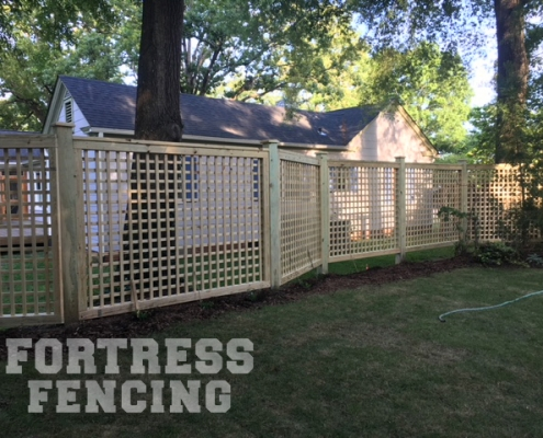 6' Custom Lattice Fence