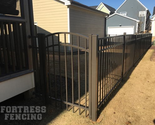 Bronze Aluminum and Arch Gate
