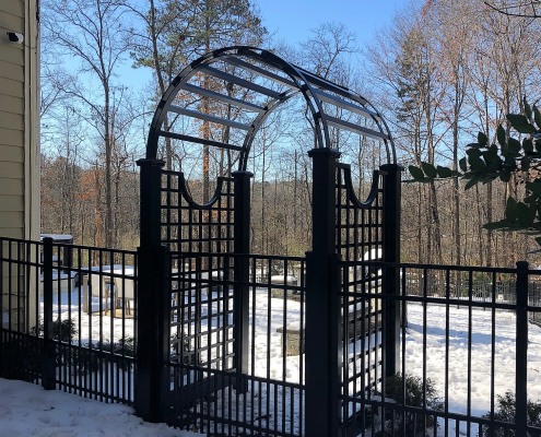 Aluminum Gate With Arbor