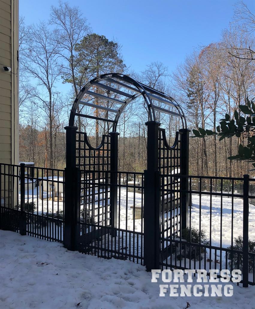Aluminum Gate With Arbor