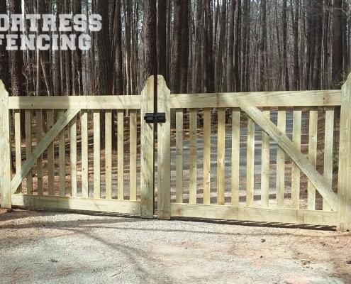 Steel Framed Wood Entry Gate