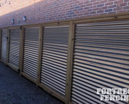 Wood Framed Corrugated Metal Fence