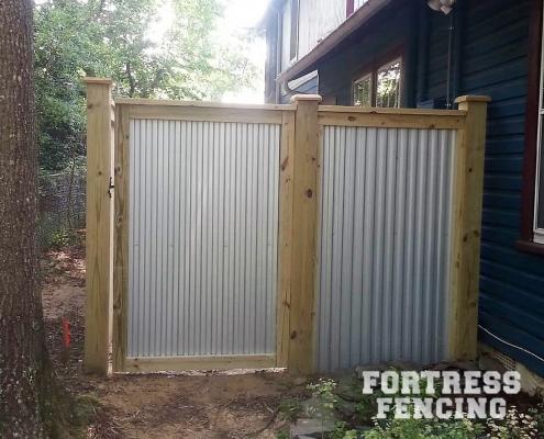 Wood Framed Corrugated Metal