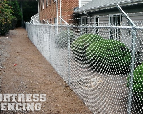 Galvanized Chain Link With Barbwire