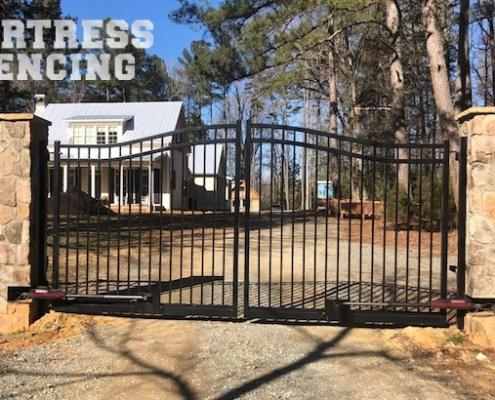Aluminum Estate Arch Drive Gate