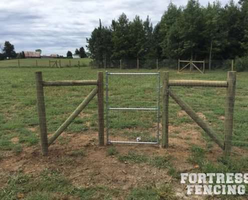 Tube Frame Gate - Round Post and Wire Fence