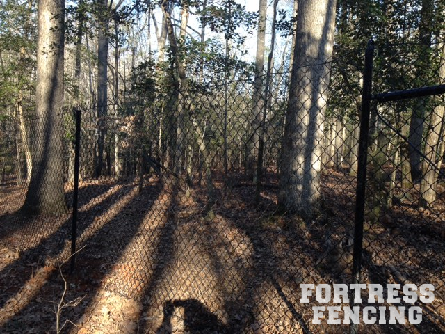 Black Chain Link Deer Fence
