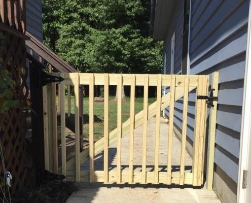 Deck Rail Walkway Gate