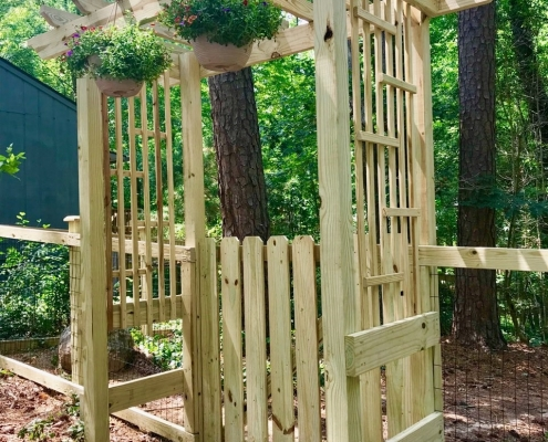 Custom 4-Post Walk Gate Arbor
