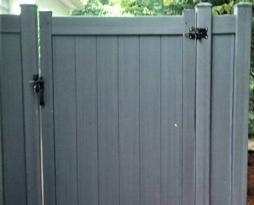 Gray Tongue and Groove PVC