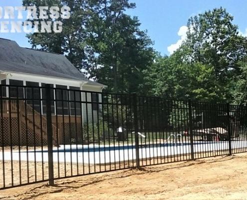 """FA9 - 54"""" Flush Bottom Aluminum Pool Fence"""